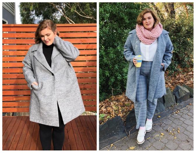Margo Wool Blend Cocoon Coat - Size 22