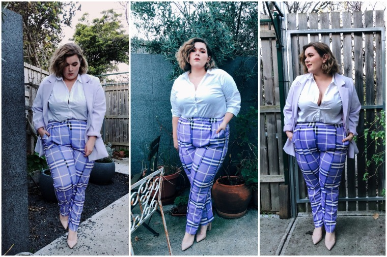 Plus Check High Waisted Trouser (22) BLOG