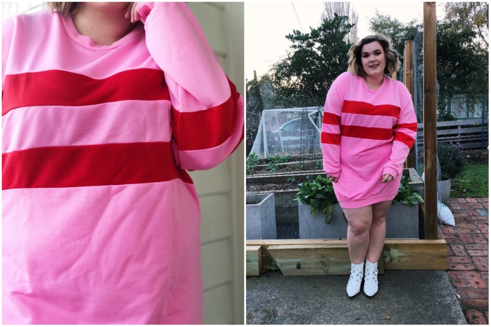 Plus Contrast Stripe Sweat Dress (22) - BLOG