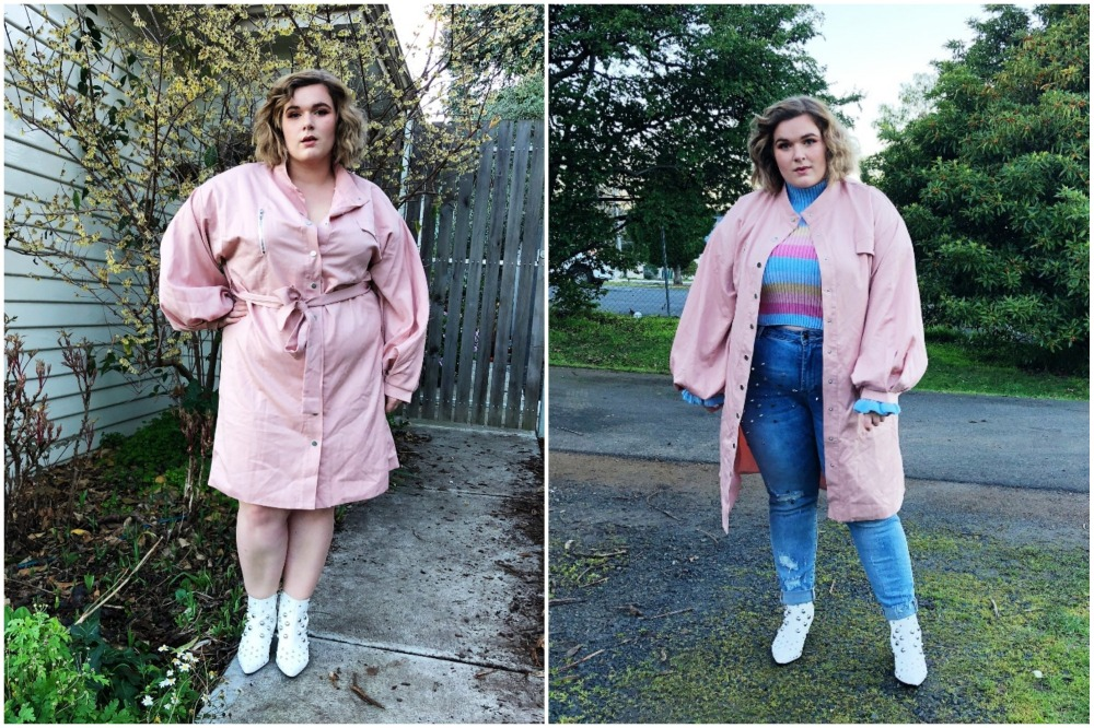 Plus Oversized Sleeve Trench Coat (22) BLOG